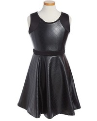 Menu U Faux Leather Sleeveless Dress