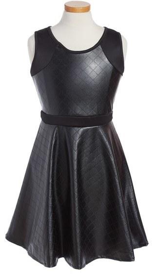 Menu U Faux Leather Sleeveless Dress