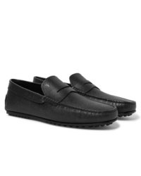 Tod's City Gommino Pebble Grain Leather Penny Loafers