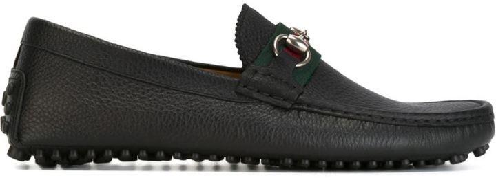 93c2d0922e Gucci Horsebit Driving Shoes, £367 | farfetch.com | Lookastic UK