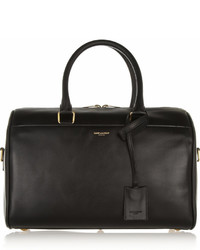 Classic duffle 6 leather bag black medium 428797