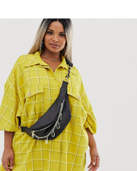 Asos Curve Asos Design Curve Bum Bag With Charm Chain Detail
