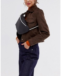 French Connection Faux Leather Bum Bag With Sporty Stripe