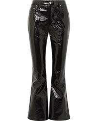 Beaufille Veritas Cropped Vinyl Flared Pants