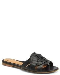 UGG Australia Chanez Leather Huarache Slide Sandal