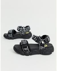 Buffalo Eisla Logo Chunky Flat Sandals