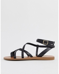 Aldo Gludda Leather Py Sandal In Black