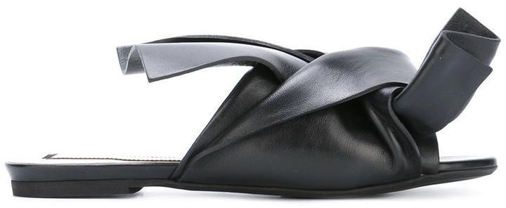No.21 No21 Bow Flat Sandals