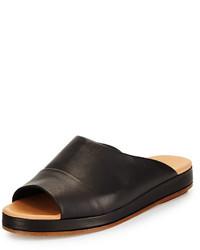 Rag and Bone Rag Bone Falk Leather Sandal Slide Black