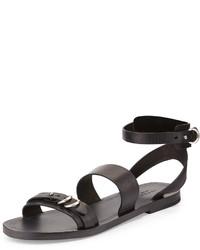 Rag and Bone Rag Bone Lara Leather Flat Sandal Black