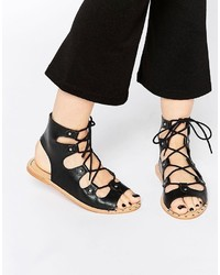 Asos Collection Faye Lace Up Leather Sandals