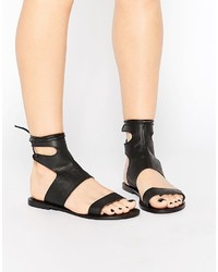Asos Collection Fountain Leather Lace Up Sandals