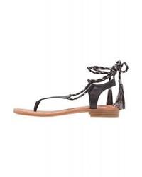 Gannon t bar sandals black medium 4014530
