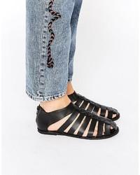 Ravel Gladiator Leather Flat Shoes