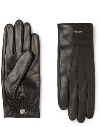 Prada Cashmere Lined Leather Gloves