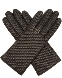 Agnelle Chloetresse Woven Leather Gloves