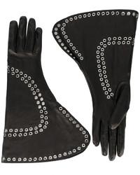 Alexander McQueen Fold Over Embellished Gloves