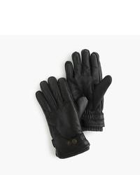 J.Crew Hestra Leather Primaloft Ribbed Gloves