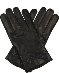 Intrecciato trimmed leather gloves medium 1033934