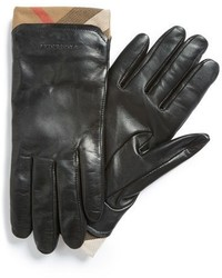 Burberry Jenny House Check Touch Tech Leather Gloves