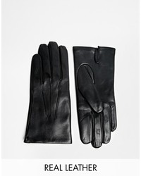 Dents Leather Gloves Black
