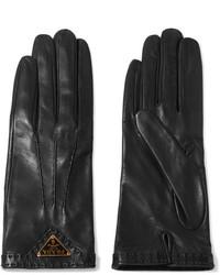 Prada Leather Gloves Black
