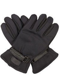 Fendi Leather Panelled Gloves