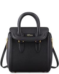 Alexander McQueen Heroine Mini Satchel Bag Black