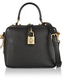 Rosaria mini textured leather shoulder bag black medium 380292