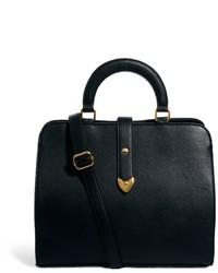 Asos Smart Front Strap Bag Black