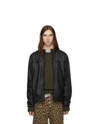 Black Leather Harrington Jacket