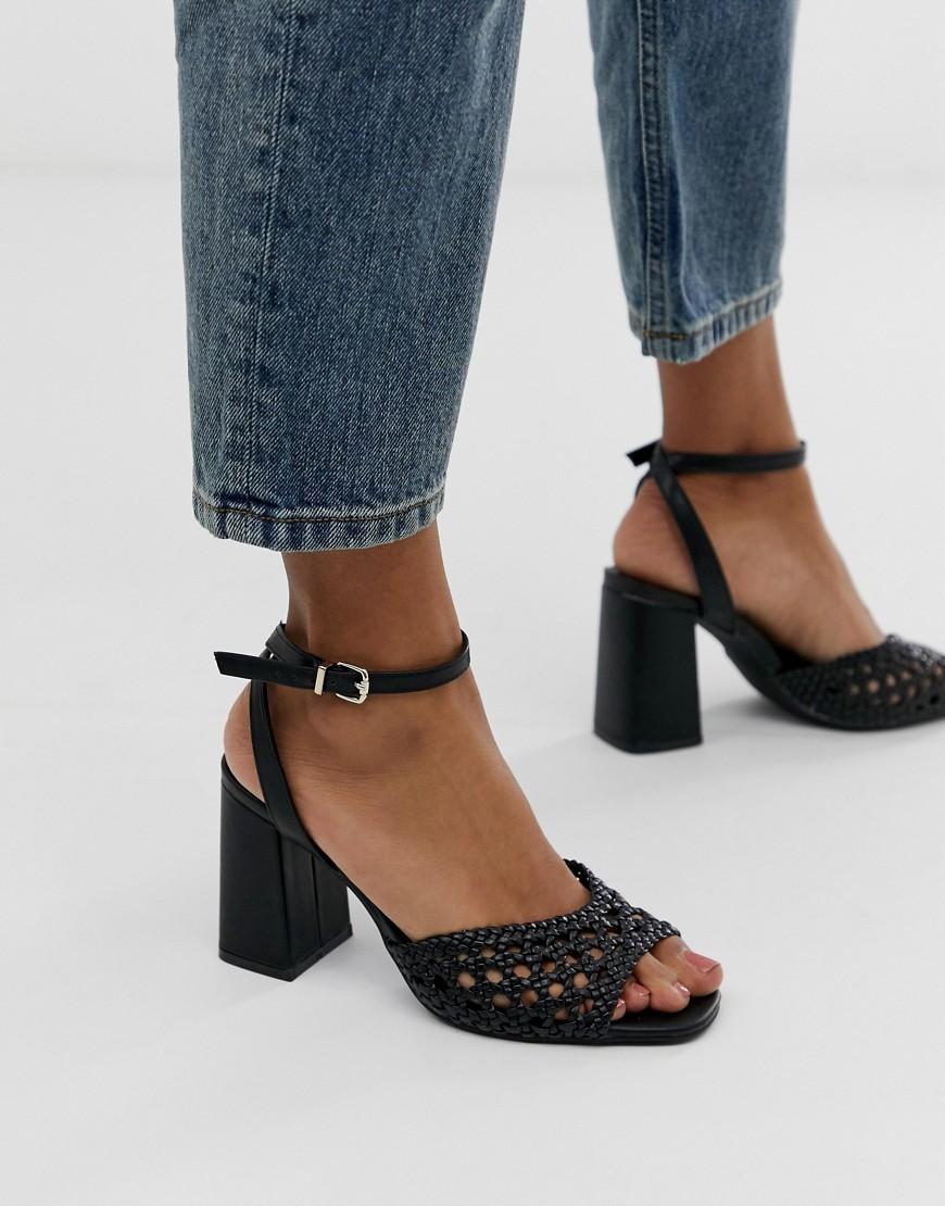 Pimkie Braided Two Part Sandals In Black