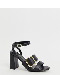 New Look Wide Fit Detail Sandal In Black