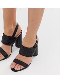 Miss Selfridge Two Heeled Sandals In Black