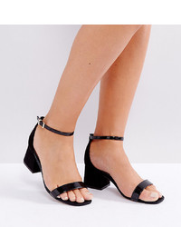 ASOS DESIGN Wide Fit Honeydew Heeled Sandals Mix