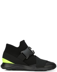 Christopher Kane Safety Buckle High Top Sneakers