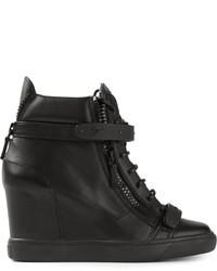 a6b8046e7ee0 ... Giuseppe Zanotti Design Concealed Wedge Heel Hi Top Sneakers