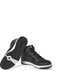 half off 449cc 8776d ... Nike Dunk Cmft Premium Leather And Suede High Top Sneakers ...