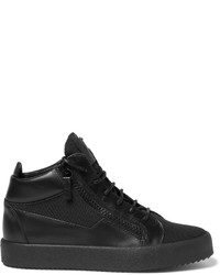 Giuseppe Zanotti Leather And Mesh High Top Sneakers