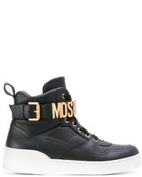 Moschino Logo Buckle Hi Top Sneakers
