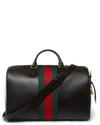 Gucci Canvas Trimmed Leather Holdall