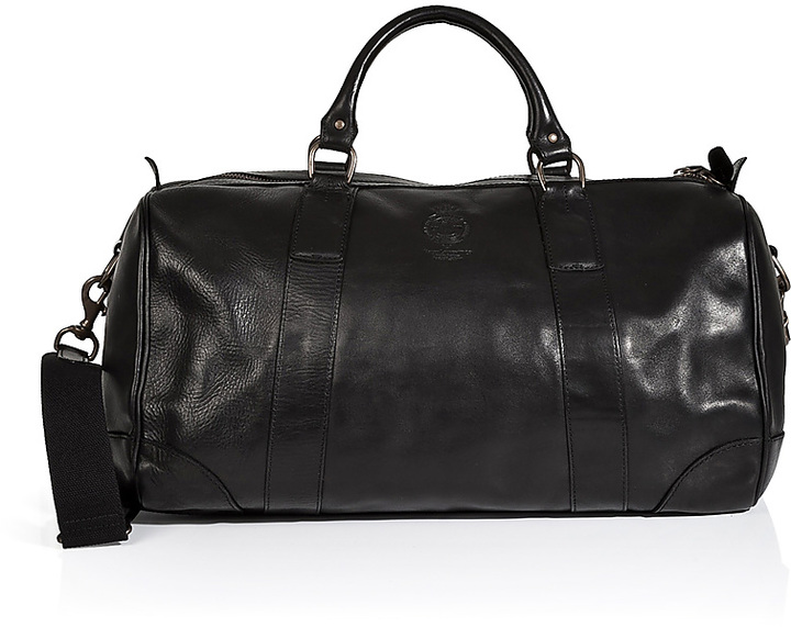 1882de1a1ef9 ... promo code for leather overnight duffle bag. black leather holdall by polo  ralph lauren e4605