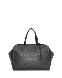 Burberry Logo Embossed Leather Holdall