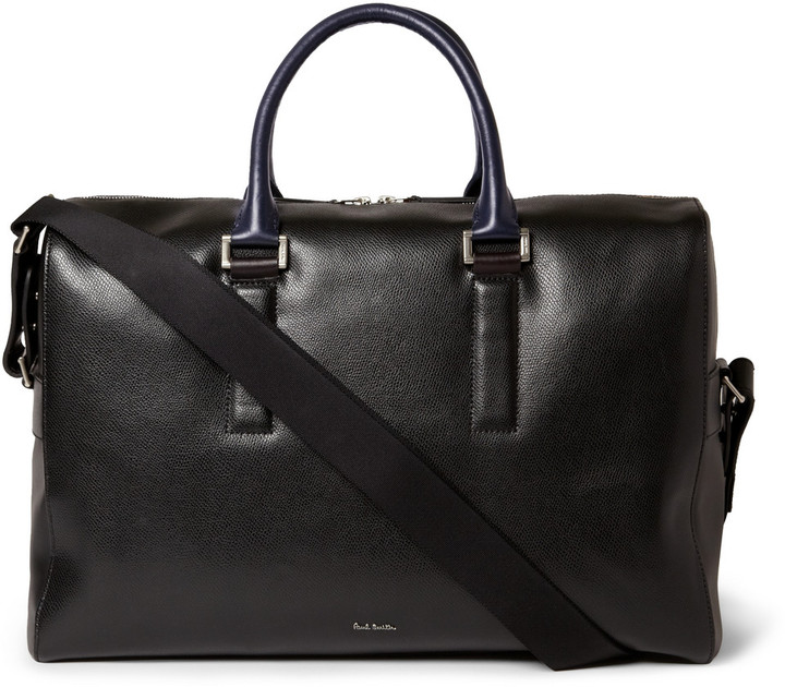 e298b2be9479 ... Paul Smith Shoes Accessories Textured Leather Holdall Bag ...
