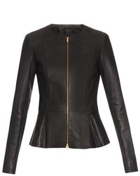 Anaste collarless leather jacket medium 401093