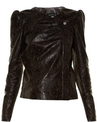 Connie laser cut leather jacket medium 805706