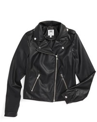 Milly Minis Girls Faux Leather Moto Jacket