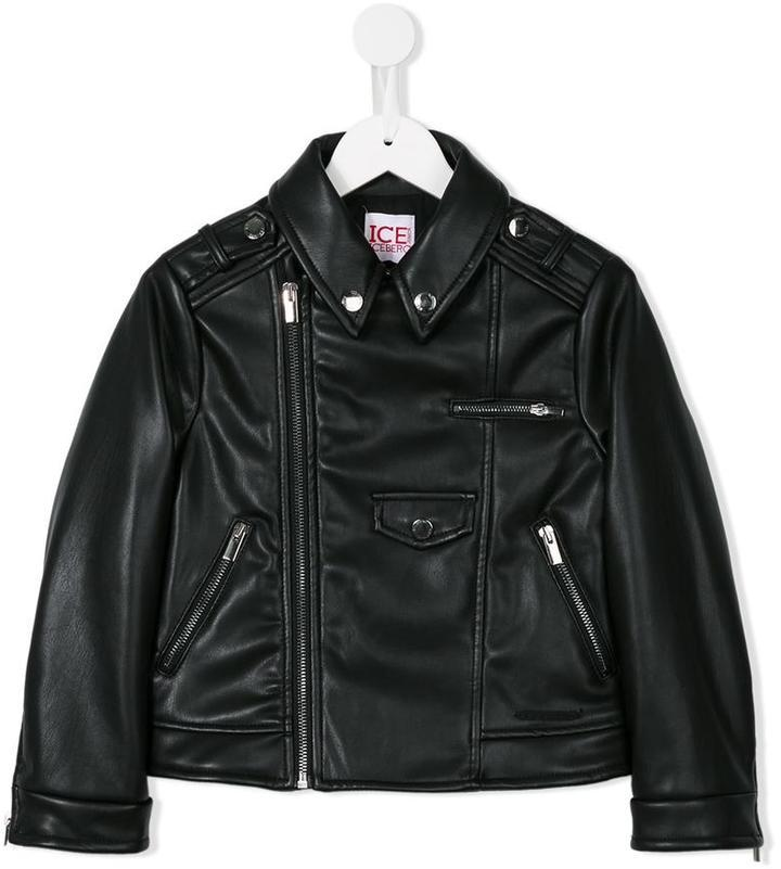Iceberg Kids Imitation Leather Biker Jacket Where To Buy How To Wear