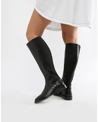 ASOS DESIGN Cadence Leather Riding Boots Leather