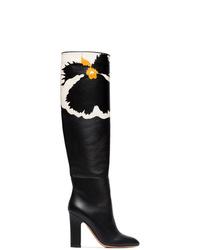 Valentino Garavani Floral Knee High Boots